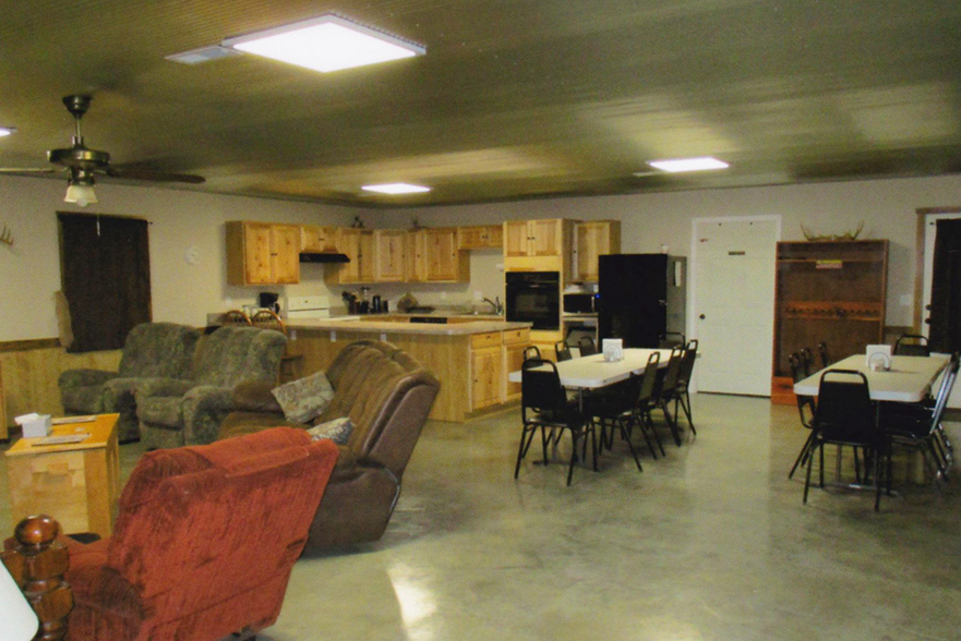 Inside the lodge at Long creek Outfitters